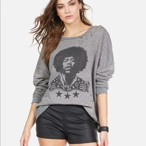 LM Jimi Hendrix Oversized Pullover New!